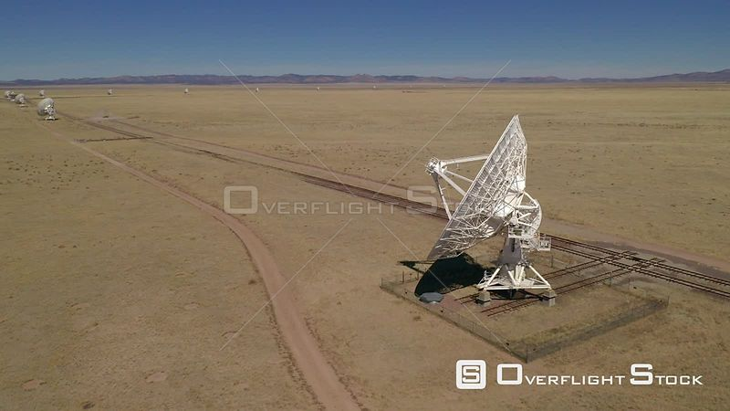 VLA - very large array radio telescopes New Mexico on the Plains of San Agustin, between the towns of Magdalena and Datil
