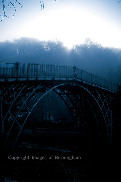 Ironbridge bridge, Telford. Winter morning.
