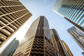 Chicago Architecture City Skyscrapers Upward View