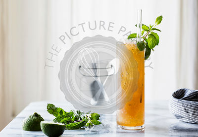 Brown sugar mint juleps cocktail