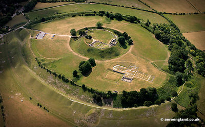 aerial photograph of Old Sarum Wiltshire England