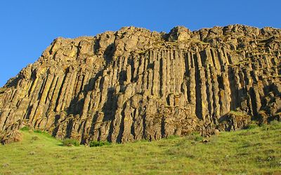 Basalt cliffs on Oregon's Columbia River