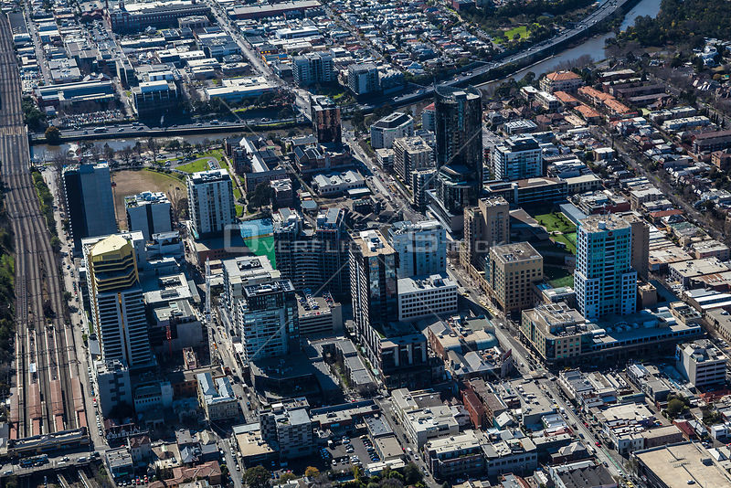 Aerial view of South Yarra in Melbourne. Australia