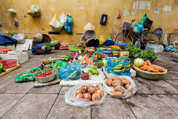 Vegetable Seller in Street