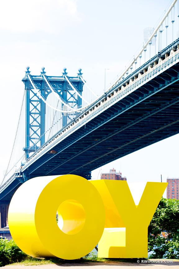 YO MANHATTAN BRIDGE BROOKLYN NEW YORK DUMBO COLOR VERTICAL