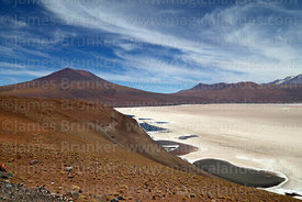 Lakes on edge of Salar de Carcote and Chela volcano, Region II, Chile