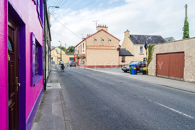 Bicyclist in Askeaton- County Limerick, Ireland