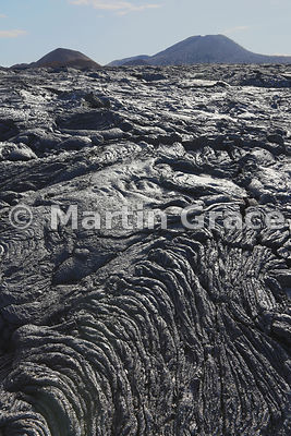Pahoehoe Lava (Rope Lava) dating from a 19th century volcanic eruption (see Description), Santiago Island, Galapagos