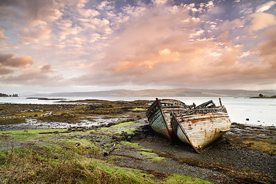 Abandoned boats at Salen, Isle of Mull