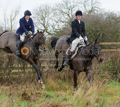jumping a hedge near Mrs Wilson's covert