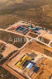 Drill Rig Aerial Photos with SWD Facility