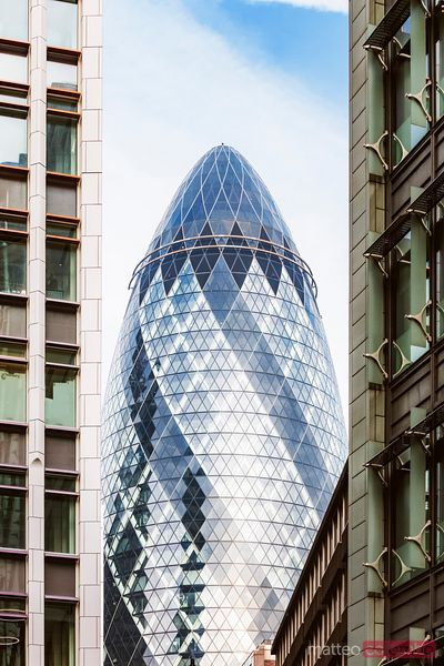 The Gherkin skyscraper, London, United Kingdom