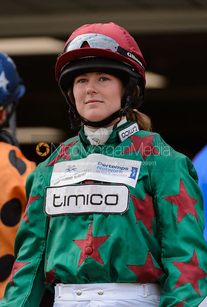 Madeleine Bunbury in the Parade Ring - Champions Willberry Charity Flat Race - Cheltenham Racecourse, April 20th 2017