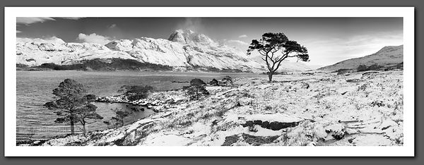 Slioch panoramic Black and White print - BP2295
