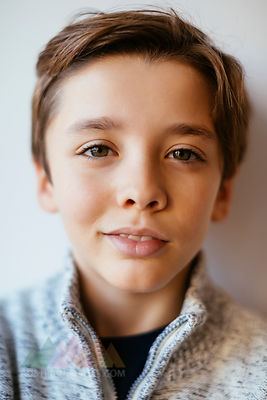 Portrait of smiling brunette boy