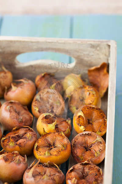 Medlars in Wooden Box