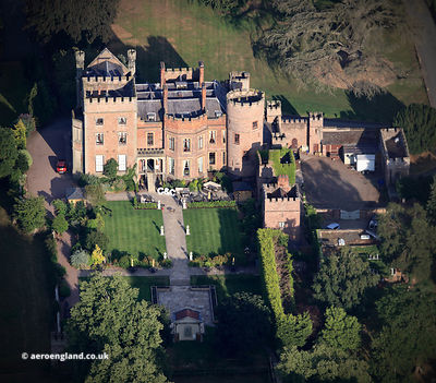 Rowton Castle aerial photograph
