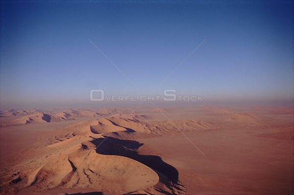 Sand dunes and desert - aerial view on the Oman / Saudi border known as 'The Empty Quarter'