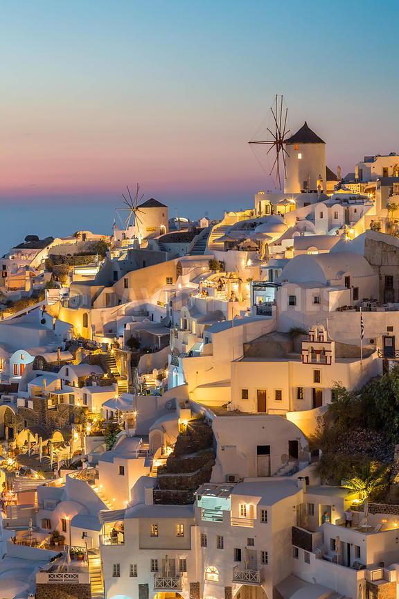 Oia, Santorini, Greece. sunset