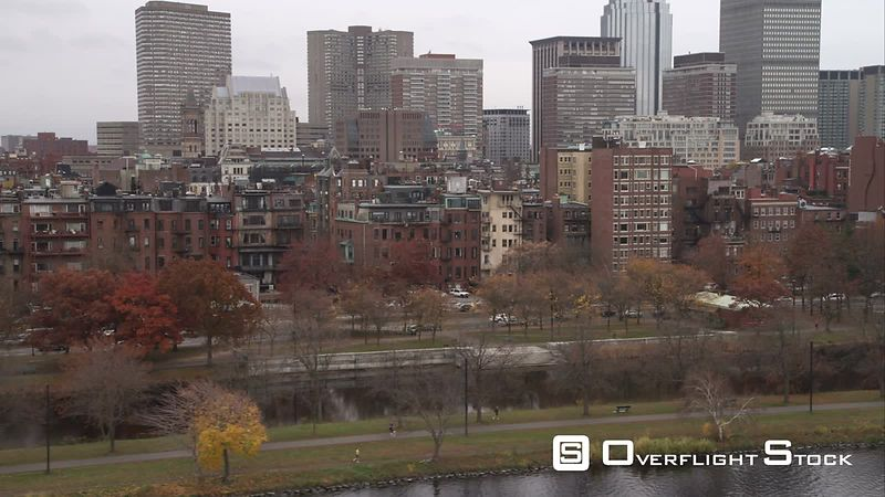 Row Houses Along the Charles River, Boston. Shot in November