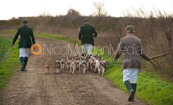 The Oakley Foot Beagles leaving the meet