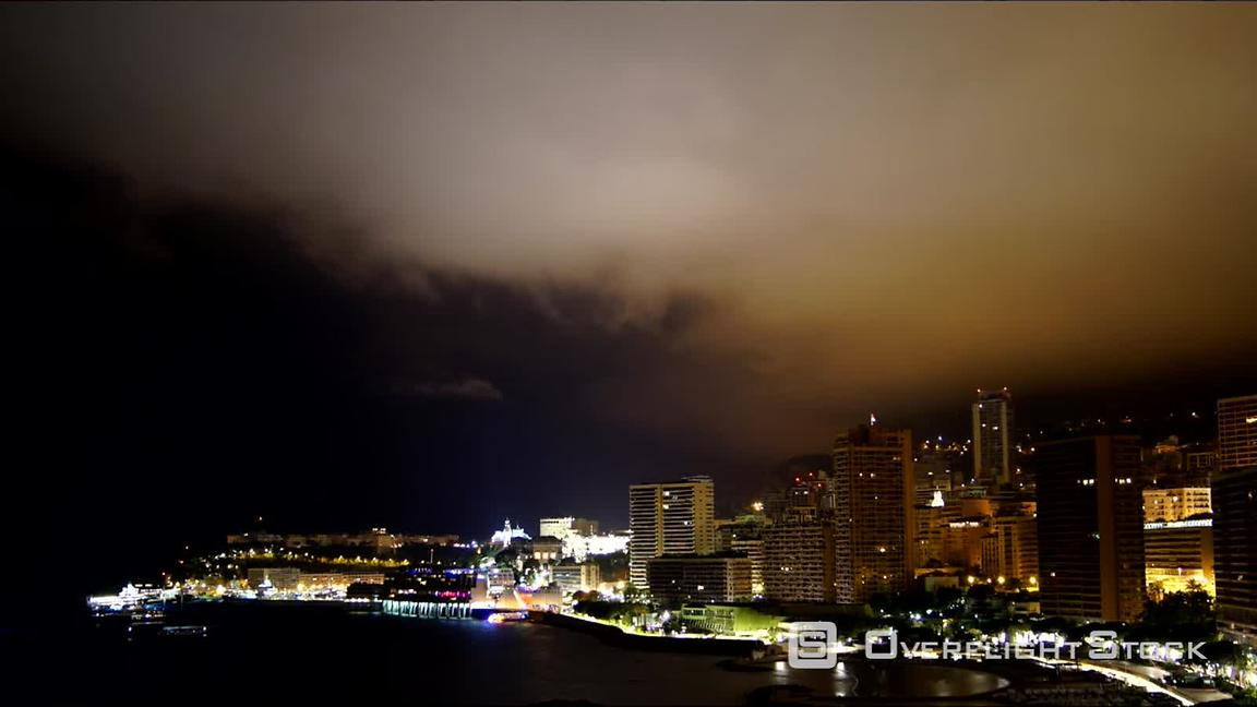 Timelapse of the Habour of Monaco at Night