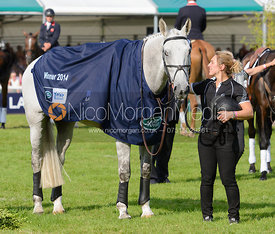 Annabelle Gentili and AVEBURY - The Prize Giving, Burghley Horse Trials 2014.