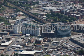 Manchester high level view of the Green Quarter Cheetham Hill North Manchester