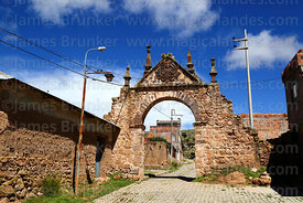 Arcopata (Arco de Arriba or Upper Archway) on outskirts of Juli, Puno Region, Peru