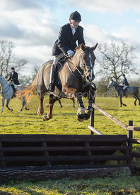 PC jumping a fence at Cream Gorse - The Quorn at Cream Gorse Farm