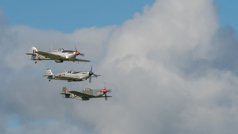 Spitfires Flying Overhead