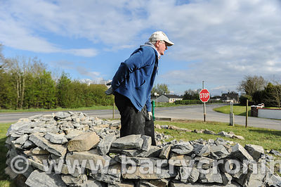 13th April, 2012. Retired Wilkinstown native Kevin Fitzsimons gets into the spirit of volunteerism by building a rockery and ...