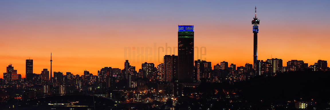 Johannesburg Skyline at Dusk