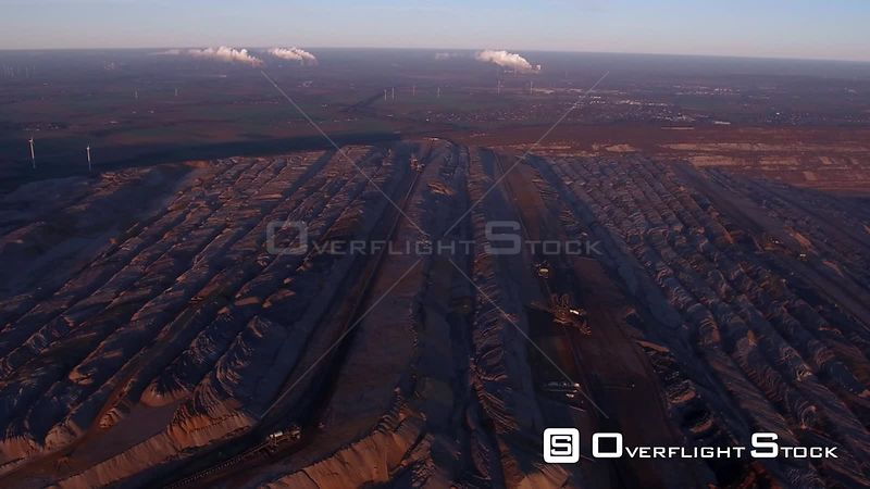 Lignite - Opencast mine in Elsdorf in the state of North Rhine-Westphalia, Germany