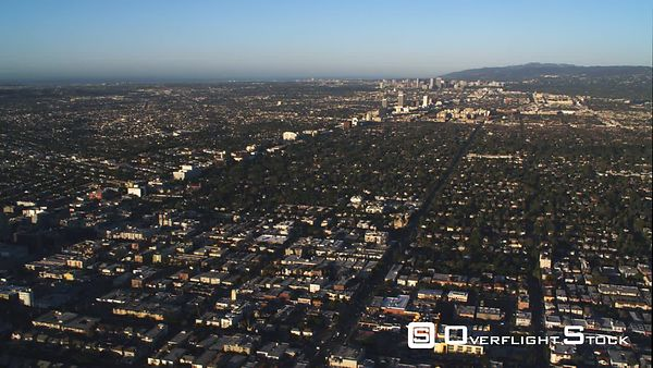 Distant View of Downtown Los Angeles.