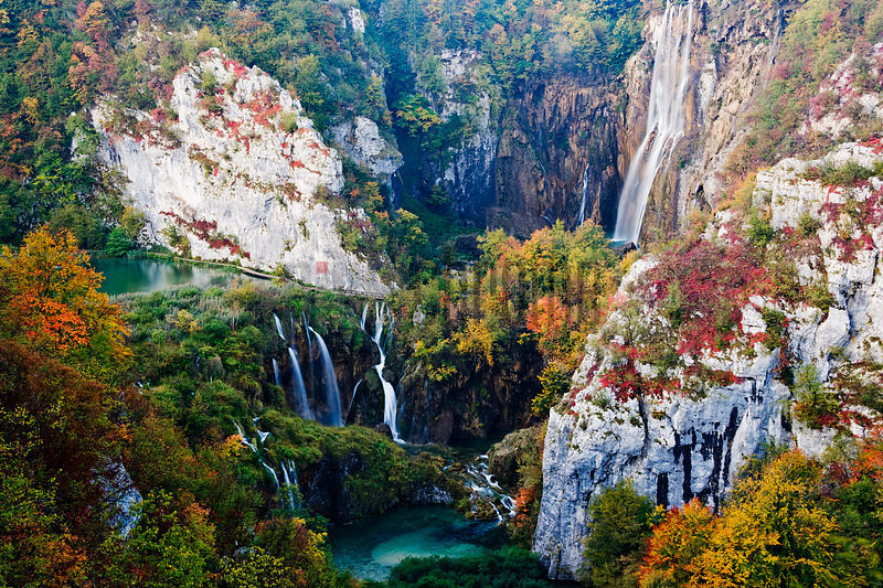 Lower Falls Plitvice Lakes National park, Croatia