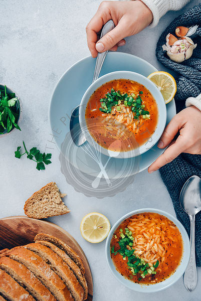 Turkish Tomato Orzo Soup