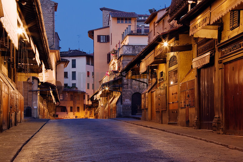 The Ponte Vecchio at Dawn, Florence, Italy