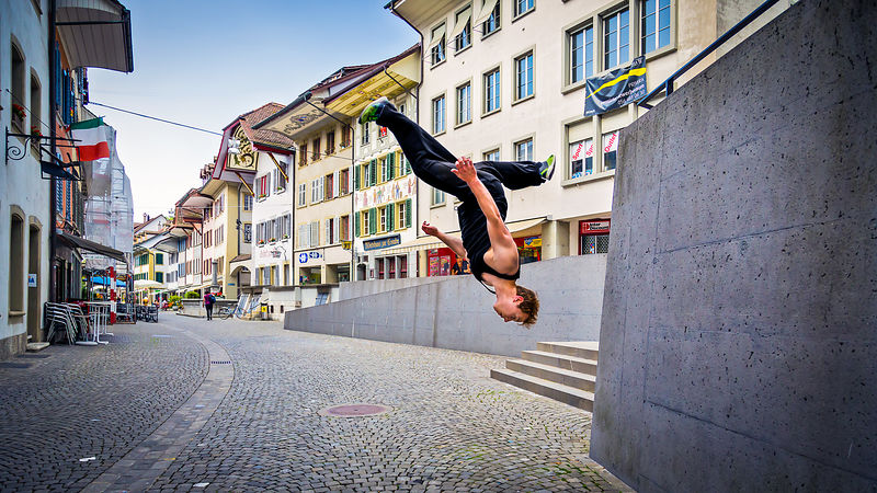 2014 Outdoor Portrait of a Freerunner.