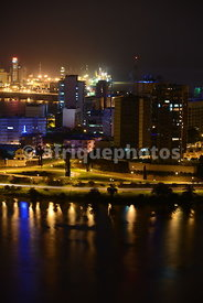 Le Plateau, Abidjan business district, by night