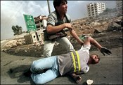 10/16/2000. Clashes between palestinians and israeli army.