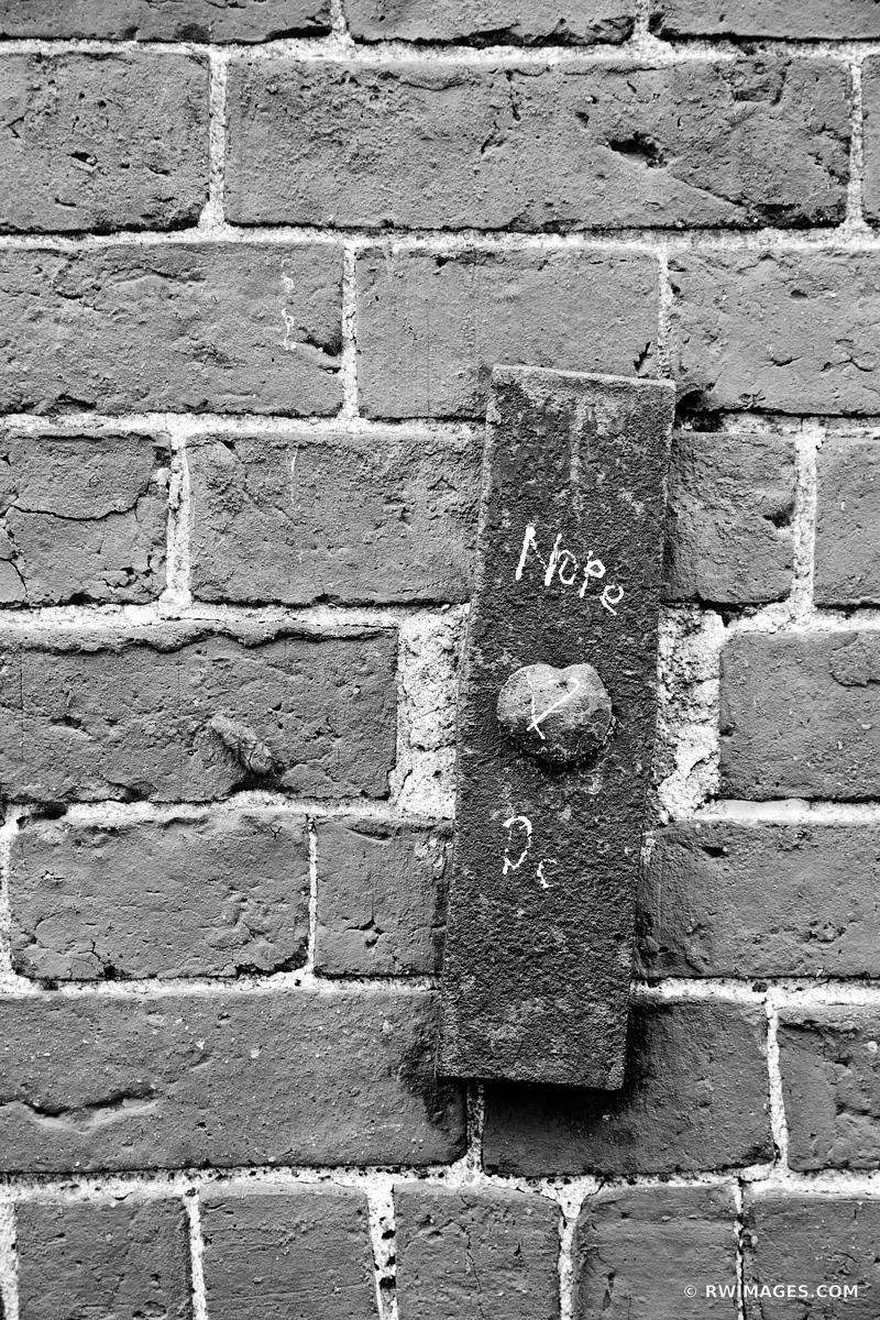 OLD BRICK WALL PORTLAND MAINE BLACK AND WHITE