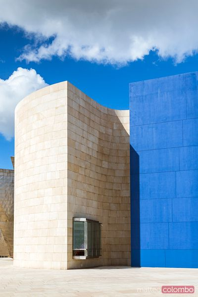 Architecture of Guggenheim museum,  Bilbao, Spain