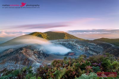 Poas volcano at sunrise, Costa Rica