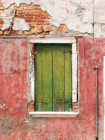 Colourful window, Burano, Italy