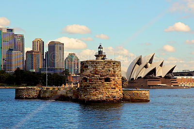 Fort Denison with the Sydney Opera House Behind