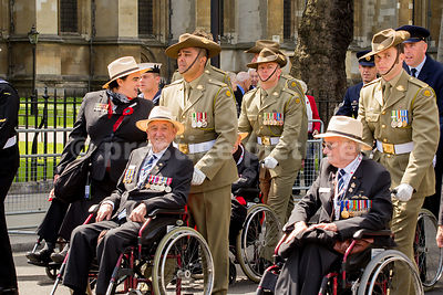 Australian Veterans in the VE Day 70th Anniversary Parade in London
