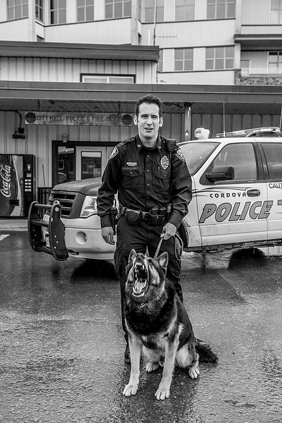 Officer Zach Johns. Cordova, Alaska.