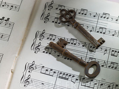 keys on sheet music