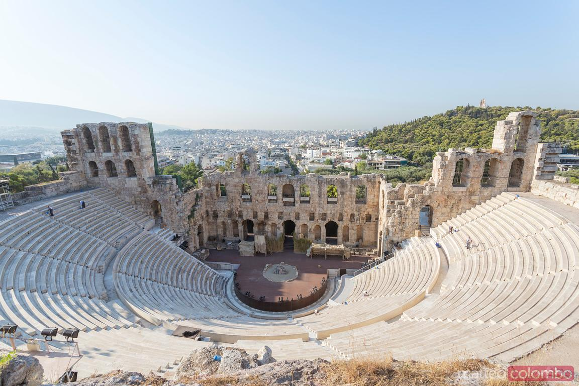 Dyonisius theatre on the Acropolis, Athens, Greece